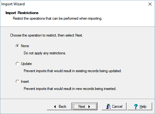 Import Restrictions page