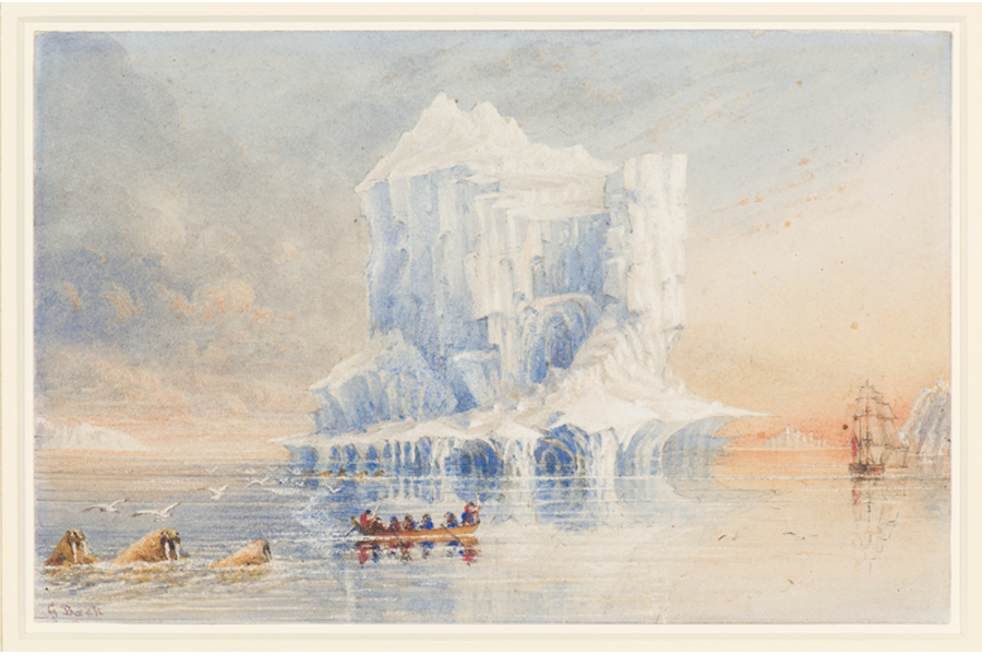 Watercolour of HMS Terror